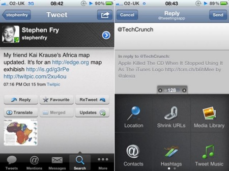 Tweetings twitter client for iphone and ipod touch 2